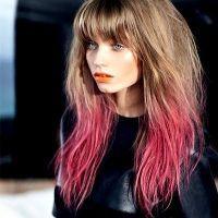 Как красить кончики волос тоником