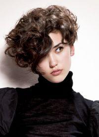 Прически на короткие волосы кудри