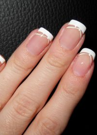 маникюр френч на коротких ногтях 1