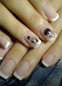 маникюр френч на коротких ногтях 4