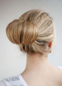 причёска пучок как делать 7