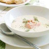 крем суп с лососем рецепт