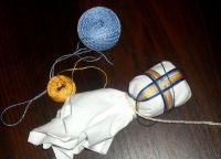 Как сделать обережный крест кукле
