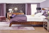 обои для спальни сиреневого цвета 3