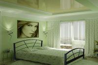 обои зеленого цвета для спальни 2