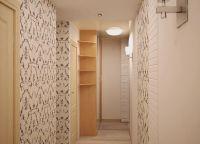 Оформление комнаты обоями двух цветов11