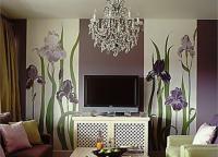 Оформление комнаты обоями двух цветов1