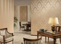 Оформление комнаты обоями двух цветов2