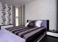 Оформление комнаты обоями двух цветов7