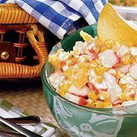 крабовый салат с чипсами рецепт