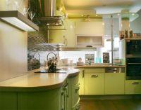 оливковый цвет в интерьере кухни1