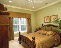оливковый цвет в интерьере спальни3