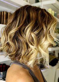 омбре на средние волосы2