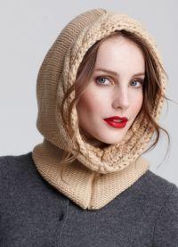 оригинальные вязаные шапки для женщин1