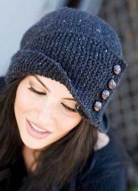 оригинальные вязаные шапки для женщин5