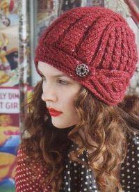 оригинальные вязаные шапки для женщин6
