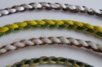 плетение браслетов из шнурков5