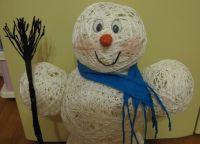 поделка снеговик своими руками 16
