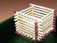 поделки домик из спичек 4