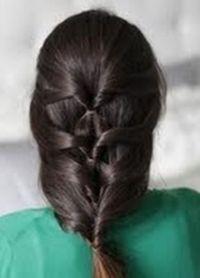 прически с резинками для волос 1
