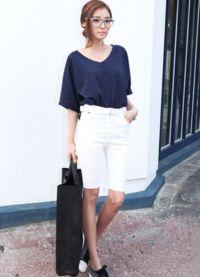 С чем носить белые шорты 7
