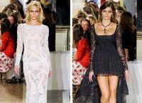 С чем носить кружевные платья 9