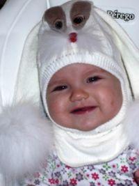 Шапка шлем для девочки10