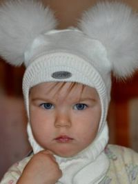 Шапка шлем для девочки11