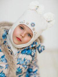 Шапка шлем для девочки9