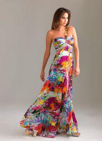 шелковые платья 2015 6