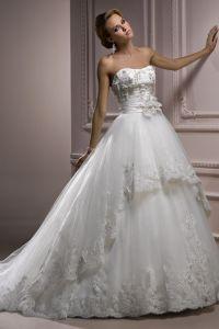 шикарные свадебные платья со шлейфом 5