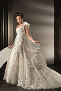шикарные свадебные платья со шлейфом 6