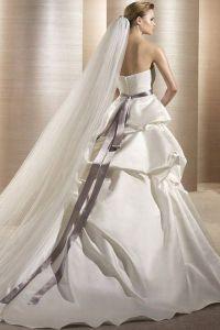 шикарные свадебные платья со шлейфом 7