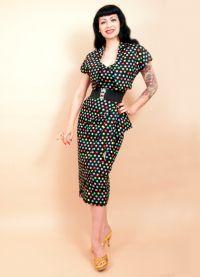 стиль 50 х годов платья 2
