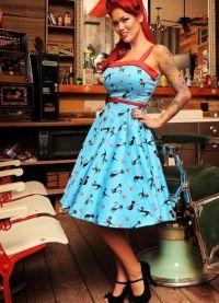 стиль 50 х годов платья 6