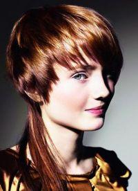 Стрижка гаврош на длинные волосы 3