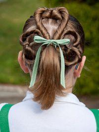 Прически на длинные волосы детям