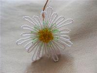 Хризантема из бисера - мастер-класс9