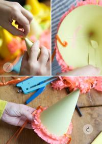 Как сделать колпак из бумаги18