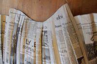 Как сделать платье из газет28