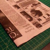 Как сделать платье из газет52
