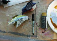 Как сделать птицу из бумаги33