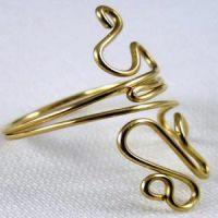 кольцо из проволоки мастер класс8