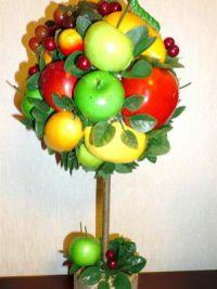 топиарий из фруктов мастер класс21