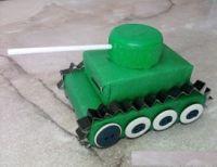 танк из спичечных коробков 8