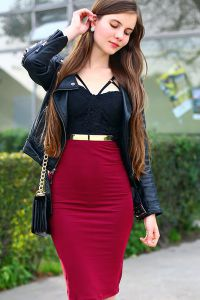 топ и юбка с завышенной талией 2015 8