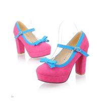 Туфли на широком каблуке 4