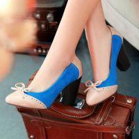 Туфли на широком каблуке 5