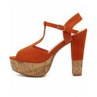 Туфли на широком каблуке 6