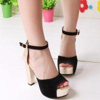Туфли на широком каблуке 7